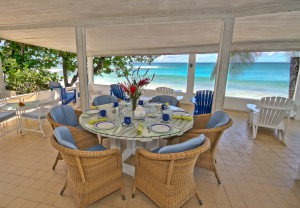 Aquamarine villa Barbados dining
