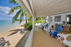 Aquamarine villa Barbados patio