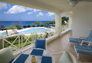 Barbados Beach View 208 patio view