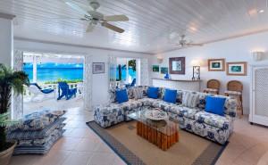 Belair villa Barbados living room