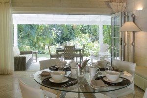 Dining room opens on to the covered terrace