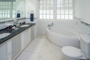Chanel 5 Barbados villa bathroom