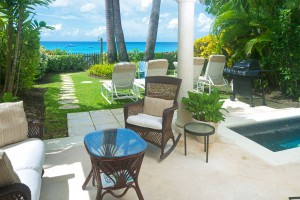 Chanel 5 Barbados villa patio
