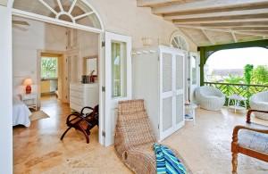 Go Easy Barbados villa bedroom balcony