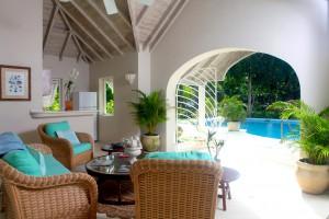 Heronetta villa pool house