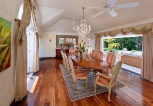 High Cane villa formal dining room