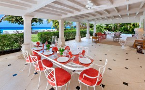 Covered patio for dining and entertaining