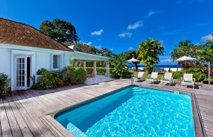 Swimming pool next to the villa