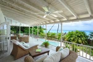 Landfall villa Sandy Lane master balcony
