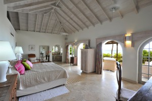 Landfall villa Sandy Lane master bed