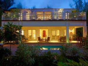 Latitude villa Barbados rear view