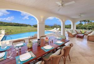 Howzat Ocean Drive villa patio