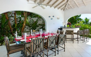 Oceana Barbados villa patio dining