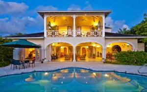 Oceana Barbados villa rear view
