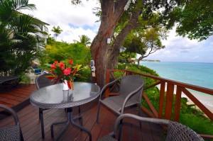 Ocean's Edge private beach side terrace