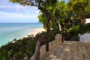 Pathway leading down the steps to the beach