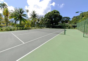 Pink Cottage tennis court