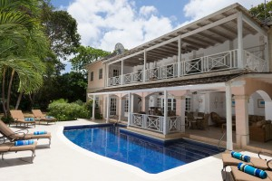 Sandalwood villa rear view with pool