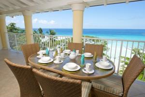 Sapphire Beach 509 Barbados patio dining