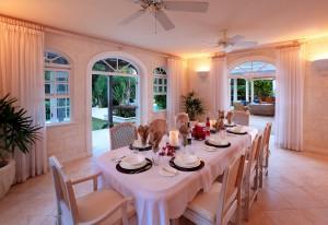 Saramanda villa rental Barbados formal dining