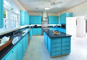 Saramanda villa rental Barbados kitchen