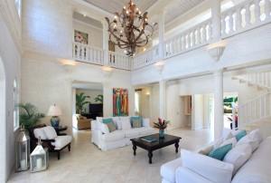 Saramanda villa rental Barbados interior