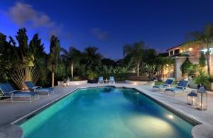 Saramanda villa rental Barbados twilight
