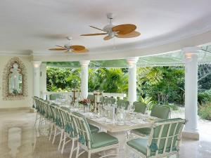 St Helena villa Barbados dining