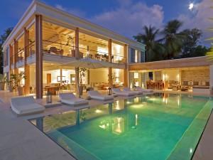 The Dream villa at twilight