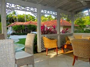 Villa Melissa Barbados patio view