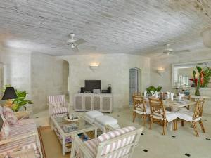 Waverley villa Barbados outdoor sitting room