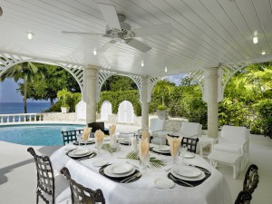Whitegates villa Barbados dining
