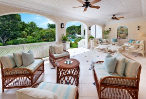 Windward villa sitting area on the patio