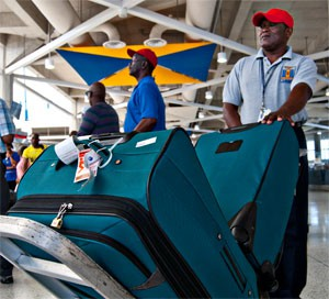 Barbados airport red cap