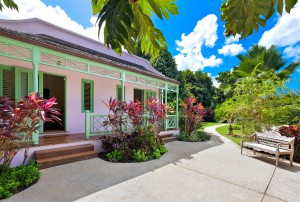 Entrance to 2 bedroom cottage at Gardenia
