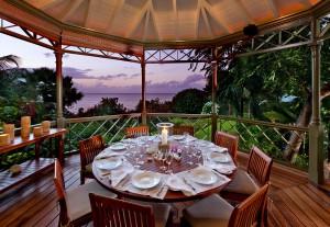 Dining in the gazebo at Gardenia