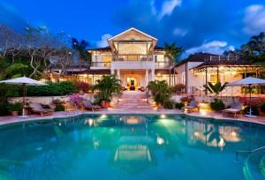 Gardenia villa at twilight