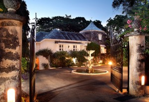 Mullins Mill entrance in the evening