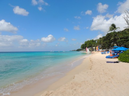 Paynes Bay beach in Barbados