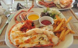 Lobster dinner Barbados