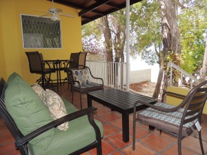 Ocean Hollow Barbados rental patio