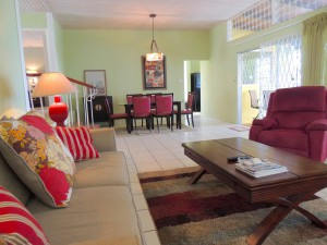 Ocean Hollow Barbados rental living and dining