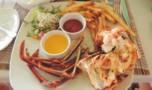 lobster lunch in Barbados