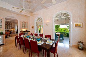 Formal dining room Pandanus villa