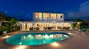 tradewinds villa barbados rear exterior evening shot