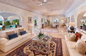 tradewinds villa barbados living room