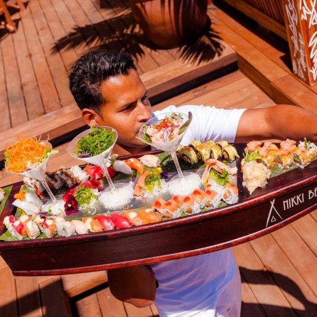 barbados-nikki-beach-sushi-boat