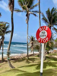 Barbados-bus-stop-beach